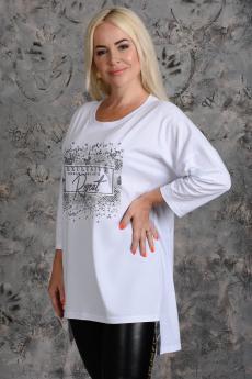 Новинка: белая туника c принтом Натали