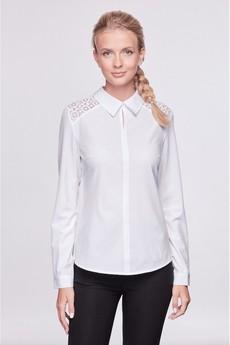 Белая блузка с гипюром Marimay