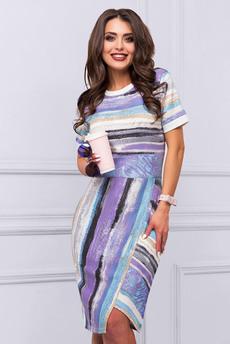 Повседневное платье с коротким рукавом CHARUTTI
