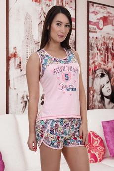 Пижама с шортами и майкой Натали