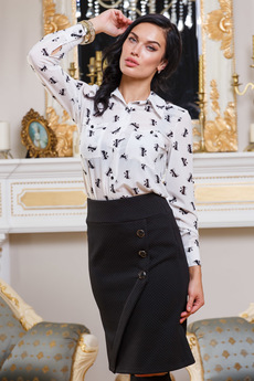 Белая блузка с бантиками Angela Ricci