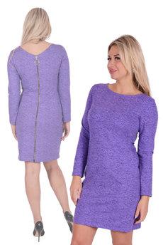 Сиреневое платье с молнией Трикотажница