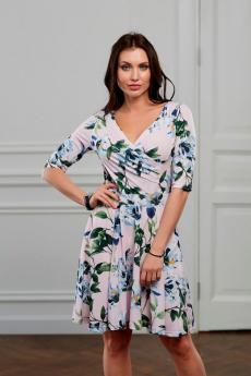 Лиловое платье с цветами Look Russian