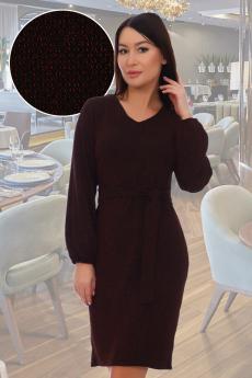Бордовое платье с люрексом Натали со скидкой